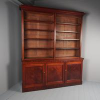 Large Early Victorian Mahogany Open Bookcase (2 of 10)