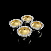 Magnificent Set of 4 Georgian Solid Silver Salts - Barnard 1837 (3 of 22)