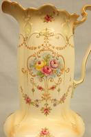 Antique Impressive Large Decorated Crown Ducal Ware Jug (3 of 7)