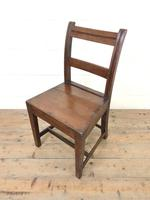 Set of Six Welsh Oak Farmhouse Kitchen Chairs with Bar Backs (4 of 9)