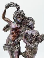 """Vintage Heavy Bronze Reproduction of the Statue """"la Fete Des Fleurs"""" Van Auguste (2 of 6)"""
