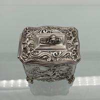 Antique Victorian Sterling Silver Tea Caddy London 1894 George Fox (7 of 12)