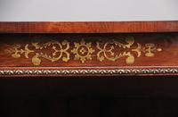 Early 19th Century Rosewood & Brass Inlaid Open Bookcase (8 of 9)