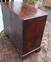 1900's Mahogany Chest Drawers with Inlay on Bracket Feet (4 of 4)
