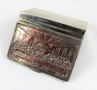 Rare French F Morel Solid Silver Last Supper Scense Lud Snuff Box (10 of 18)