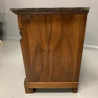 French Cherry & Marble Top Commode Chest of Drawers (2 of 8)