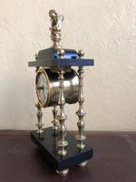 Rare Antique French Small Portico Alarm Clock (5 of 7)