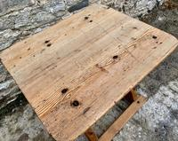 Antique Swedish Pine X-frame Trestle Table (5 of 21)