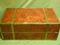 Exceptional FULLY Brass Bound Amboyna Writing Box c.1850 (11 of 15)