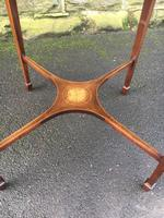 Quality Edwardian Inlaid Mahogany Occasional Table (6 of 7)