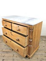 Antique Pine & Marble Chest of Drawers (11 of 15)