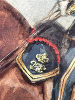 Military Watercolour Prince of Wales Own 10th Royal Hussars Guard on Horseback by Henry Martens c.1850 (15 of 53)