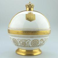 John Wadsworth : Limited Edition 1/600 Minton Orb Commemorate the Crowning of Qeii 1953