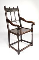 Rare 17th Century Derbyshire Wainscot Chair (8 of 10)