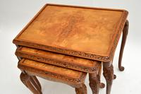 Queen Anne Style Burr Walnut Nest of Tables c.1930 (6 of 9)