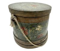 Antique Treen Hand Painted Sewing Box c.1915 (7 of 9)