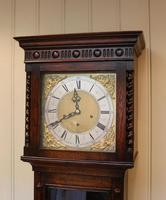 Small Oak Westminster Chime Longcase Clock (2 of 10)