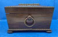 William IV Rosewood Sarcophagus Box with Inlay (4 of 13)