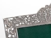 Antique Square Silver Frame with a Cartouche Depicting Females and Horses (2 of 7)
