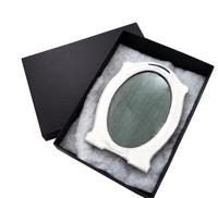 """Antique Sterling Silver 9 1/2"""" Oval Photo Frame 1915 (2 of 10)"""