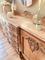 French Antique Sideboard / Louis XV Style Sideboard / Antique Oak Buffet (5 of 9)