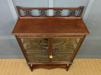 Carved Mahogany Display Cabinet (11 of 14)