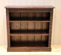 Dark Oak Open Bookcase (2 of 11)