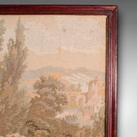 Antique Tapestry Panel, French, Framed, Needlepoint, Decorative, Edwardian, 1910 (9 of 10)
