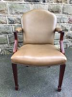 Antique Mahogany & Leather Desk Chair