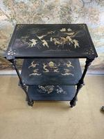 19th Century Three Tiered Lacquered Stand (2 of 6)
