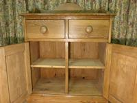 Vintage Stripped Pine Cupboard with Shaped Back (5 of 8)