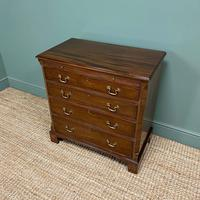 Unusual Small Edwardian Mahogany Antique Bachelors Chest (4 of 7)