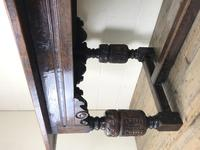 Antique Carved Oak Refectory Dining Table (8 of 15)