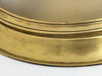 Art Deco Round Domed Glass Brass Ceiling Pendant Light (10 of 30)