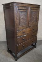 Good Quality Carved Oak Tallboy / Linen Press / Wardrobe (3 of 11)