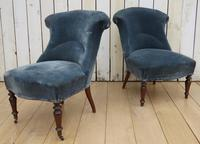 Pair of Antique French Tub Chairs (8 of 9)