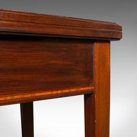 Antique Fold Over Card Table, English, Mahogany, Games, Occasional, Edwardian (12 of 12)