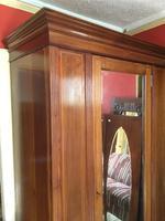 Antique Mahogany Wardrobe with Mirror Door (2 of 10)