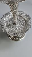 Stunning Large Pair of Indian Silver Floral Trumpet Vases c.1890 (9 of 13)