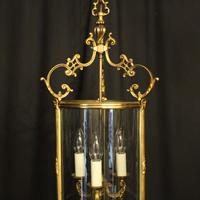 French Gilded Bronze Antique Hall Lantern (10 of 10)