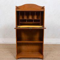 Edwardian Slim Oak Writing Bureau Arts & Crafts (3 of 9)