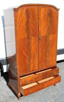 1960s Mahogany Press Wardrobe Well Fitted (2 of 7)