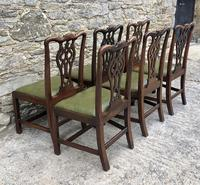 Set of 6 Georgian Mahogany Dining Chairs (4 of 21)