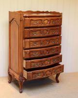 French Cherry Wood Tall Chest of Drawers (3 of 12)
