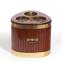 George III Mahogany & Brass Mounted Wine Cooler (4 of 4)