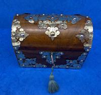 Victorian Brassbound Walnut Box c.1850 (3 of 10)