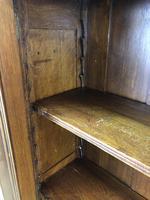 19th Century Antique Oak Breakfront Glazed Bookcase (13 of 15)