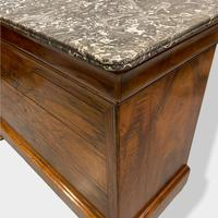 Figured Walnut & Marble Top Commode (13 of 16)