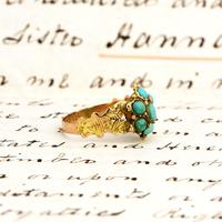 The Antique Victorian 1868 Seven Turquoise Ring (3 of 6)