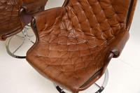 Pair of Vintage Leather Swivel 'Jetson' Armchairs by Bruno Mathsson (8 of 11)